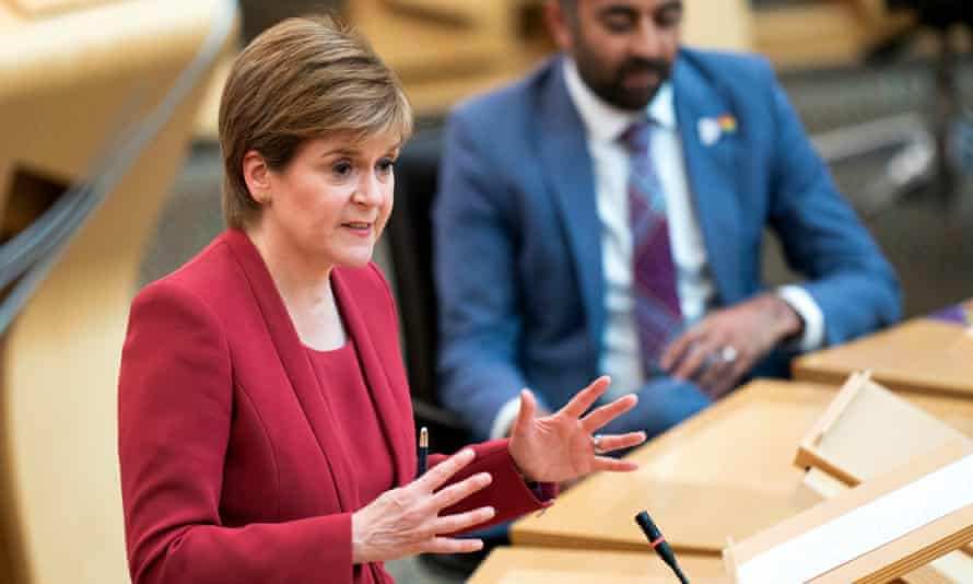 Nicola Sturgeon said more time was needed for vaccination 'to get ahead and stay ahead of the virus'.