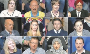 Members of the audience who asked questions during the BBC Question Time Election Special