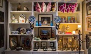 Homewares, including cushions and photo frames on display in Chandler House studio-shop gallery, Cape Town.