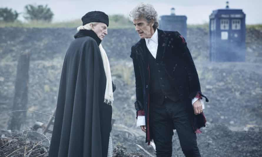 David Bradley and current Doctor Who Peter Capaldi in an episode of the show.