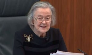 The president of the supreme court, Brenda Hale, reading out the court's devastating ruling on Tuesday.