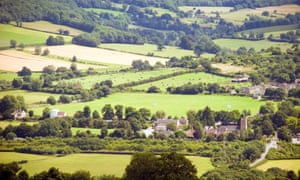 Green belt land in England