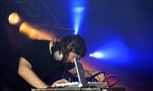 Aphex Twin performs in 2004.