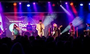 Black Country, New Road at Rockaway Beach festival.