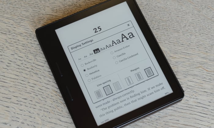 Amazon kindle oasis review the luxury e reader really is something amazon kindle oasis review the luxury e reader really is something special technology the guardian fandeluxe Image collections