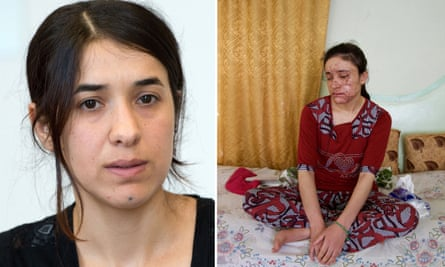 Nadia Murad, left, and Lamiya Aji Bashar