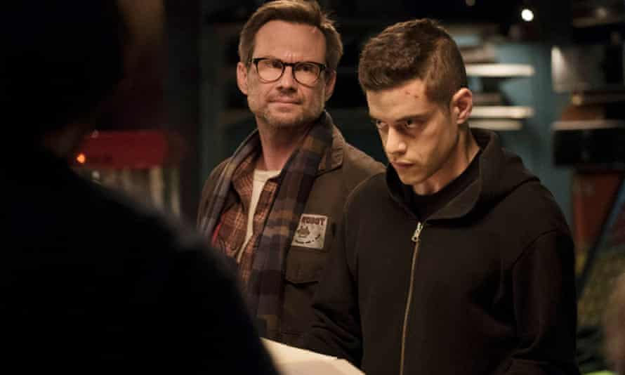 Can you hack it? Mr Robot starring Christian Slater and Rami Malek.