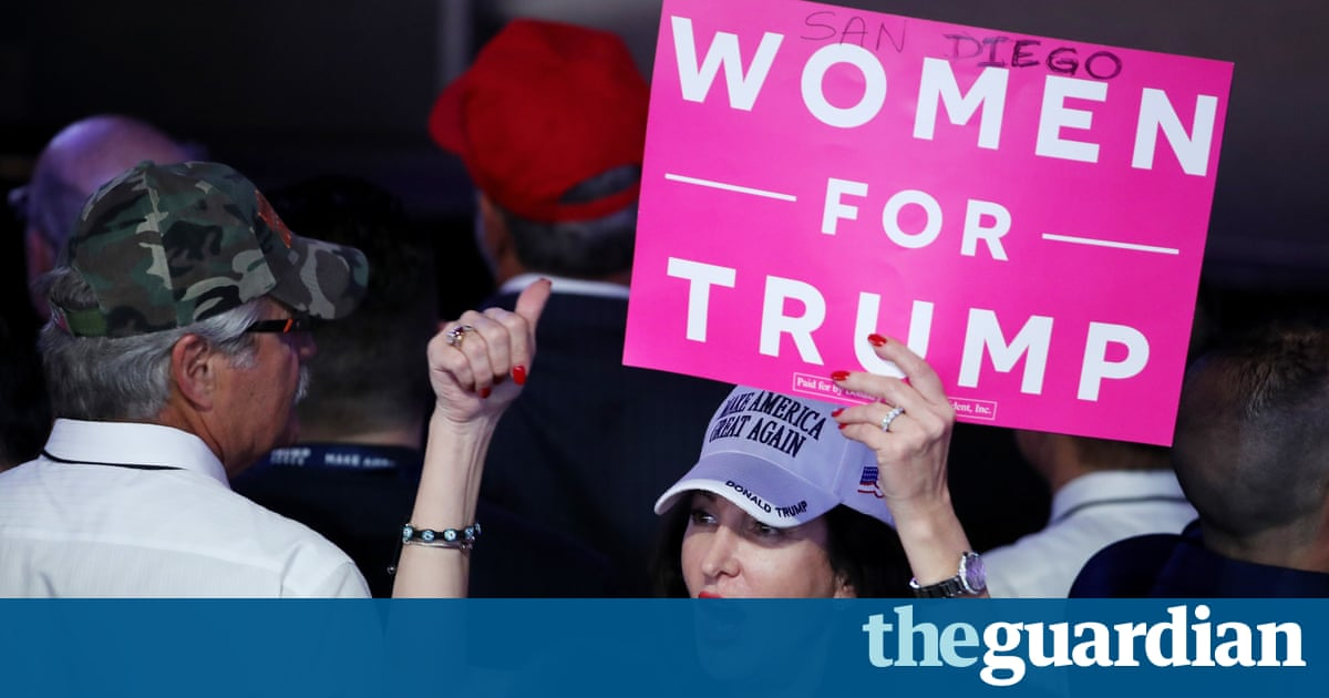 8efe981c For months, the image of the Donald Trump's supporter has been the face of  an angry white man. But it was white women who pushed Trump to victory.