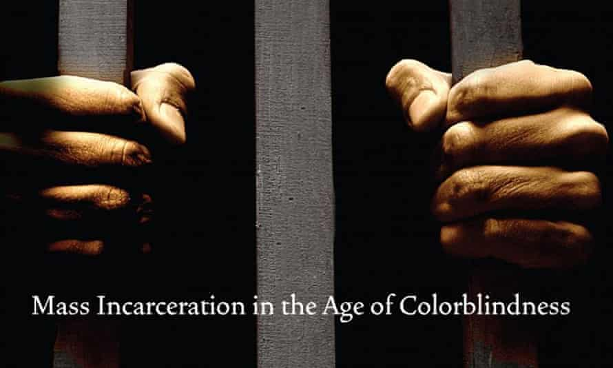 A detail from the cover of The New Jim Crow by Michelle Alexander