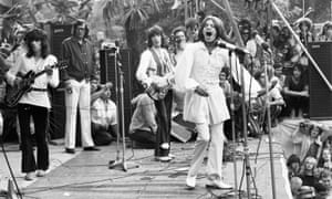 The Rolling Stones play Hyde Park, London, July 1969.