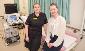 Lindsay van Dijk, right, with Carolyn Morrice, chief nurse at Buckinghamshire Healthcare NHS Trust.