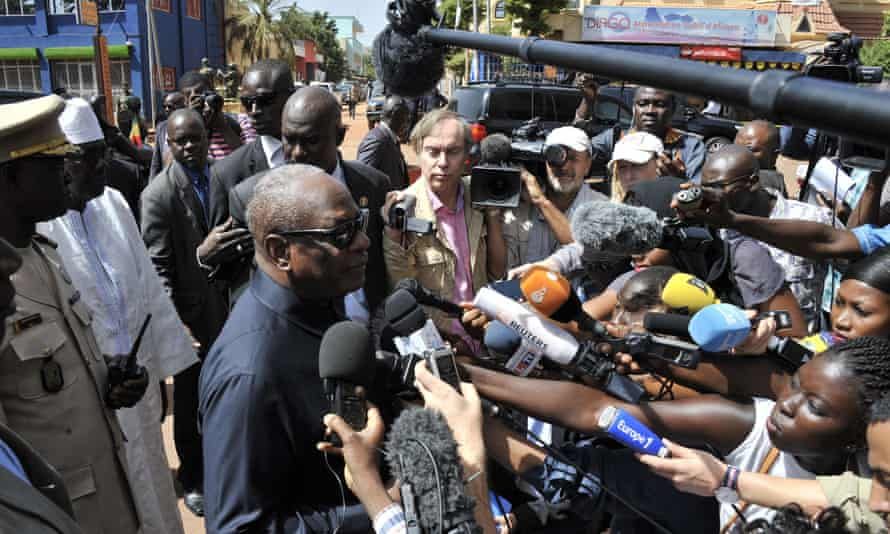 President Ibrahim Boubacar Keita visits the Radisson Blu hotel.