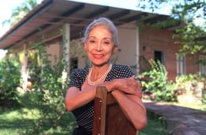 Dame Margot Fonteyn photographed at her home in Panama in 1990