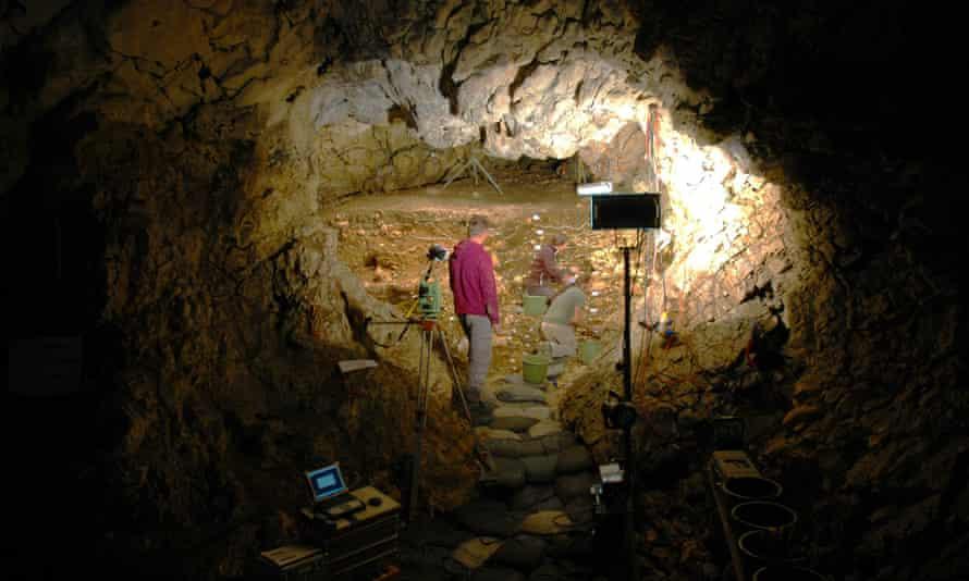 The Hohlenstein Stadel cave, north of Langenau, Germany.