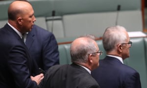 Peter Dutton, Scott Morrison and Malcolm Turnbull