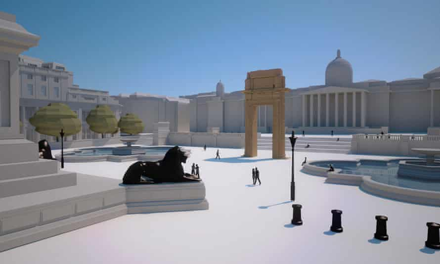 Model of how the arch will look in Trafalgar Square