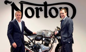 Norton's Stuart Garner with George Osborne when the then chancellor visited the motorcyle firm.