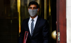 UK chancellor of the exchequer Rishi Sunak leaving the TV studio on Tuesday.