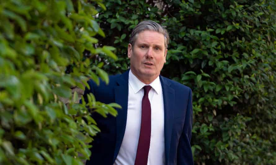 Keir Starmer leaves his home in London last April to attend his first prime minister's questions