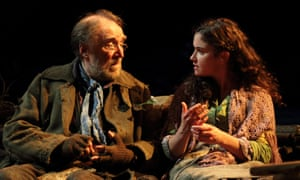 Communication … Dermot Crowley (Jimmy Jack) and Judith Roddy (Maire) in Brian Friel's 19th-century Ireland.