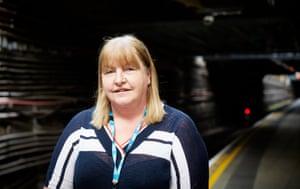 Sarah, NHS worker, at Whitechapel Station.