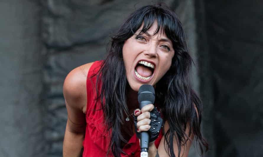 Sharon Van Etten onstage in Austin in October 2018.