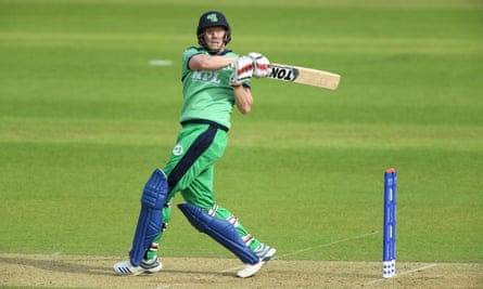 Kevin O'Brien of Ireland batting at the Rose Bowl last month.