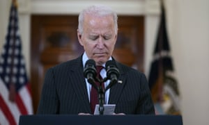 Joe Biden speaks at the White House about lives lost to Covid.