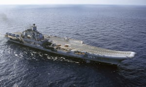 The Russian aircraft carrier Admiral Kuznetsov.