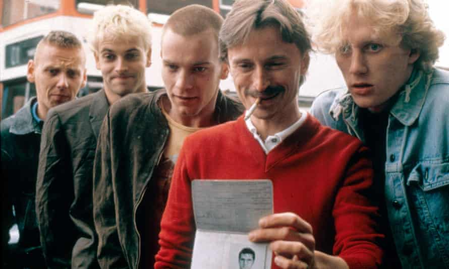 Circle of friends … Ewen Bremner, Jonny Lee Miller, Ewan McGregor, Robert Carlyle and Kevin McKidd in Trainspotting.