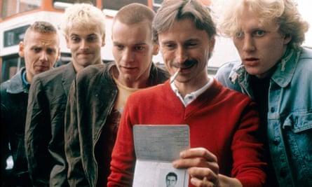 Trainspotting, 1996: Spud (Ewen Bremner), Sick Boy (Jonny Lee Miller), Renton (Ewan McGregor), Begbie (Robert Carlyle) and Tommy (Kevin McKidd)
