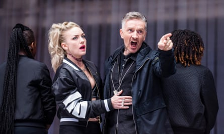 Jonathan McGuiness as Cymbeline and Claire-Louise Cordwell as his Queen in Imogen.