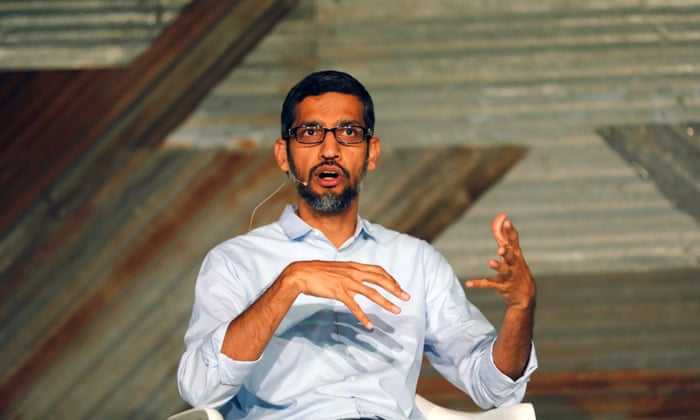 Google's CEO Sundar Pichai ... 'We had hoped to have a frank, open discussion today as we always do to bring us together and move forward.'