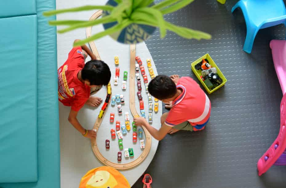 Rescued children in the playroom of the child protection unit at Philippine General hospital.