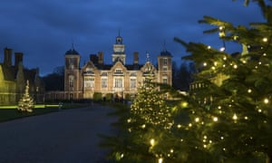 Blickling Hall at night time