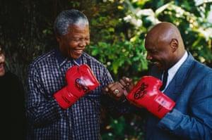 Nelson Mandela and Marvin Hagler