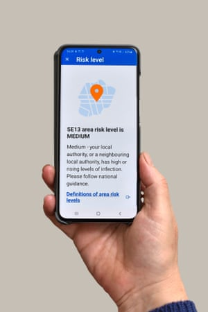 In this photo illustration from 24 September, 2020, the NHS Test and Trace app, which has been launched in England and Wales, is displayed on a smartphone. People have been urged to download the long-delayed Covid-19 contact tracing software.