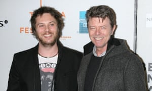 Duncan Jones with his father, David Bowie, in 2009.