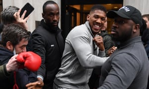 Anthony Joshua in London earlier this week.