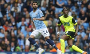 Riyad Mahrez was wanted in January 2018 by Pep Guardiola and finally joined for a club record £60m in the summer from Leicester.