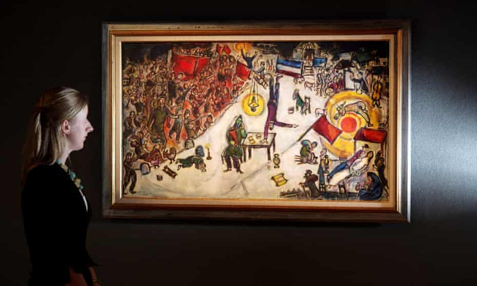 Marc Chagall's La Revolution was allegedly put up as security on a top peer-to-peer investment platform.