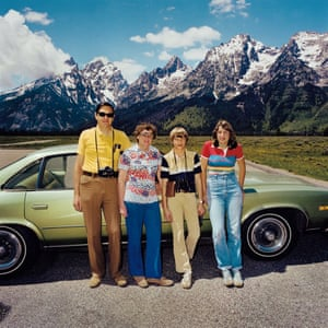 Family at Grand Teton National Park, Wyoming, 1980, by Roger Minick, from the Sightseers series.