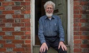James Flynn sitting on doorstep