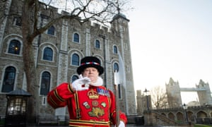 """""""Beefeater, the White Tower and a photo-bombing Tower Bridge"""""""