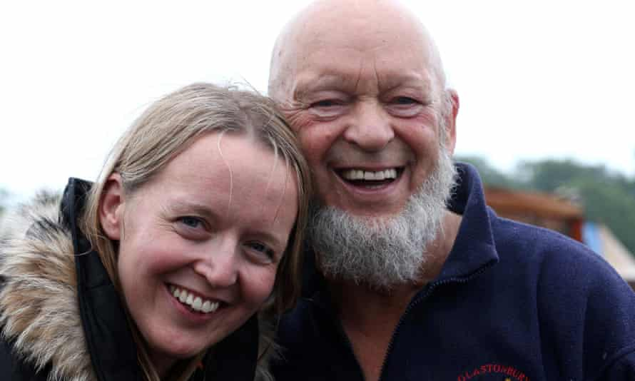 Emily Eavis with her father, Glastonbury founder Michael