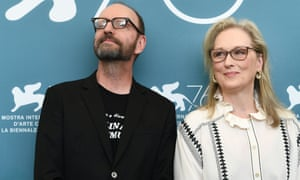 Steven Soderbergh and Meryl Streep at The Laundromat photocall.