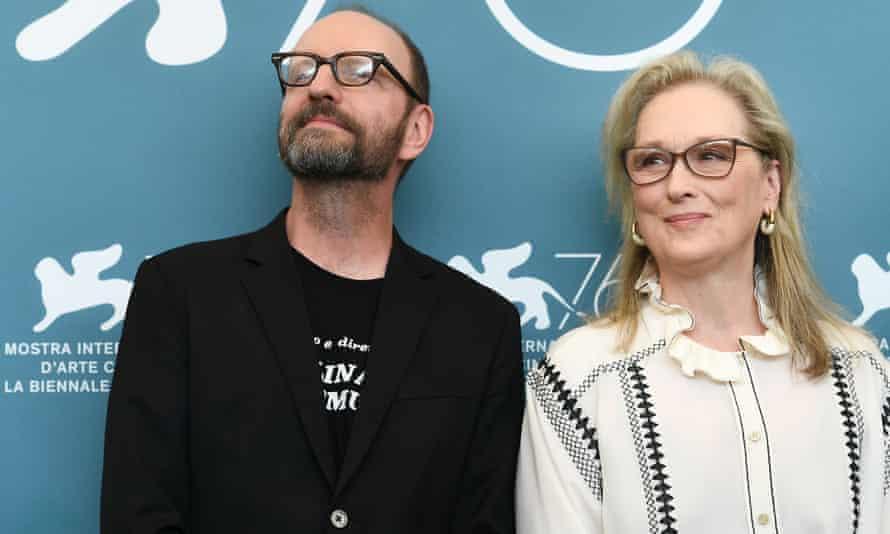 Steven Soderbergh and Meryl Streep at The Laundromat photocall.