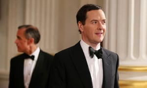 George Osborne is followed by the Bank of England governor, Mark Carney.