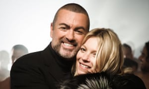 George Michael with Kate Moss