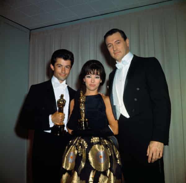 Chakiris and Rita Moreno at the Oscars with Rock Hudson in 1962.
